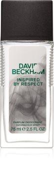 David Beckham Inspired By Respect déodorant avec vaporisateur pour homme 75 ml