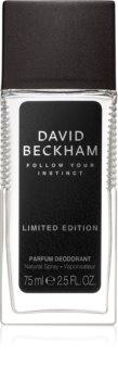 David Beckham Follow Your Instinct Deo mit Zerstäuber für Herren 75 ml