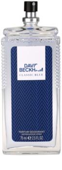 David Beckham Classic Blue deodorant s rozprašovačem pro muže 75 ml