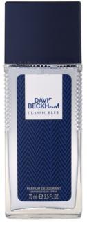 David Beckham Classic Blue deodorant s rozprašovačom pre mužov 75 ml