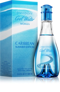 Davidoff Cool Water Woman Caribbean Summer Edition Eau de Toilette voor Vrouwen  100 ml