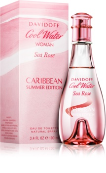 Davidoff Cool Water Woman Sea Rose Caribbean Summer Edition Eau de Toilette for Women 100 ml