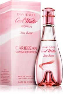 Davidoff Cool Water Woman Sea Rose Caribbean Summer Edition eau de toilette pentru femei 100 ml