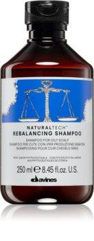 Davines Naturaltech Rebalancing shampoo di pulizia profonda per cuoi capelluti grassi
