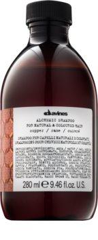 Davines Alchemic Copper șampon pentru a evidentia culoarea parului