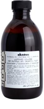 Davines Alchemic Chocolate champô para enfatização de cor de cabelo
