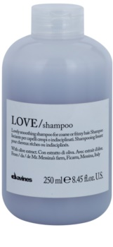 Davines Love Olive sampon pentru indreptarea parului pentru par indisciplinat