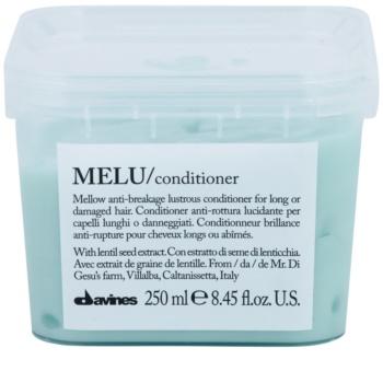 Davines Melu Lentil Seed Milde Conditioner  voor Beschadigd en Broos Haar