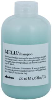 Davines Melu Lentil Seed champô suave para cabelo danificado e quebradiço