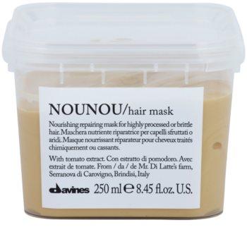 Davines NouNou masque nourrissant pour cheveux abîmés et traités chimiquement