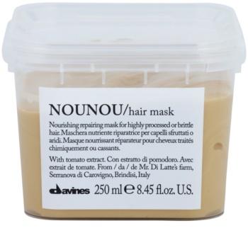 Davines NouNou Tomato θρεπτική μάσκα για κατεστραμμένα, χημικά επεξεργασμένα μαλλιά