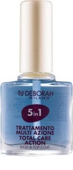 Deborah Milano Nail Care podkladový a vrchní lak na nehty 5 v 1