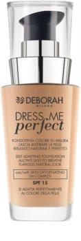 Deborah Milano Dress Me Perfect тональний крем для натурального вигляду шкіри SPF 15