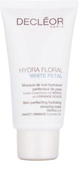 Decléor Hydra Floral White Petal zdokonaľujúca a hydratačná maska na noc