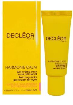 Decléor Harmonie Calm Organic gel-crema para contorno de ojos antibolsas y antiojeras