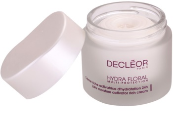 Decléor Hydra Floral reichhaltige feuchtigkeitsspendende Creme für normale und trockene Haut