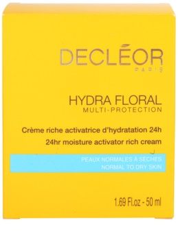 Decléor Hydra Floral gazdag hidratáló krém normál és száraz bőrre