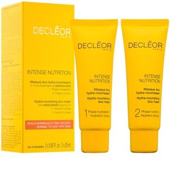 Decléor Intense Nutrition feuchtigkeitsspendende und nährende Gesichtsmaske Duo