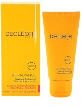 Decléor Life Radiance máscara iluminadora para todos os tipos de pele