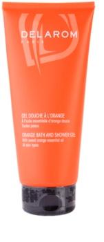 Delarom Body Care bagno e doccia gel all'arancia