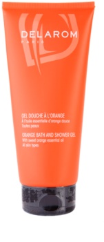 Delarom Body Care gel de ducha y baño naranja