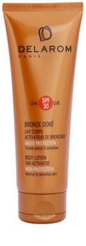 Delarom Bronze Doré захисне молочко з активатором для засмаги SPF 30