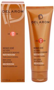 Delarom Bronze Doré lait corporel protecteur activateur de bronzage SPF 30