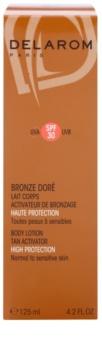 Delarom Bronze Doré ochranné telové mlieko s opaľovacím aktivátorom SPF 30