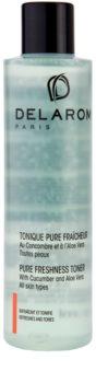 Delarom Cleaning and Removing lotion tonique rafraîchissante et purifiante au concombre et aloe vera