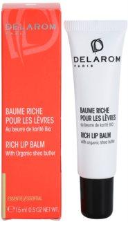 Delarom Essential balsam de buze cu unt de shea organic