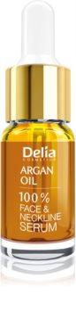 Delia Cosmetics Professional Face Care Argan Oil sérum intensivo regenerador e rejuvenescedor com ácido hialurónico para rosto, pescoço e decote