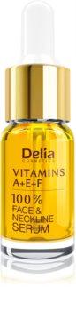 Delia Cosmetics Professional Face Care Vitamins A+E+F sérum antirrugas para rosto e decote