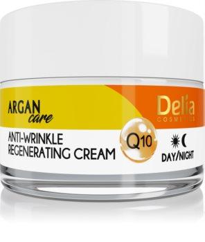 Delia Cosmetics Argan Care creme regenerador antirrugas com coenzima Q10
