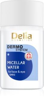 Delia Cosmetics Dermo System água de limpeza micelar para o contorno dos olhos e lábios 3 em 1
