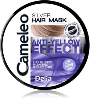 Delia Cosmetics Cameleo Silver haj maszk semlegesíti a sárgás tónusokat