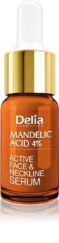 Delia Cosmetics Professional Face Care Mandelic Acid Glättendes Serum mit Hyaluronsäure für Gesicht, Hals und Dekolleté