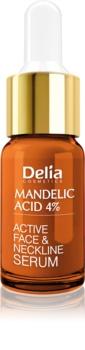 Delia Cosmetics Professional Face Care Mandelic Acid sérum suavizante com ácido de amendoas para rosto, pescoço e decote
