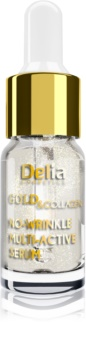 Delia Cosmetics Gold & Collagen Rich Care posvetlitveni serum proti gubam