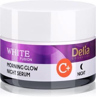 Delia Cosmetics White Fusion C+ crema notte illuminante antirughe
