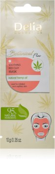 Delia Cosmetics Botanical Flow Hemp Oil beruhigende Hautmaske für empfindliche und irritierte Haut