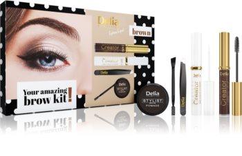 Delia Cosmetics Eyebrow Expert Brown coffret cosmétique V. (sourcils) pour femme