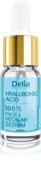 Delia Cosmetics Professional Face Care Hyaluronic Acid intenzivní vyplňující a protivráskové sérum s kyselinou hyaluronovou na obličej, krk a dekolt