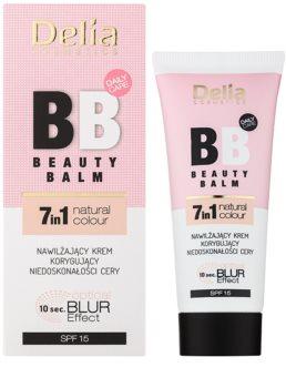 Delia Cosmetics Optical Blur Effect Beauty Balm hidratáló BB krém a bőr tökéletlenségei ellen SPF 15