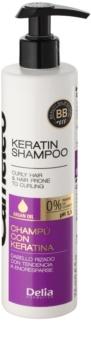 Delia Cosmetics Cameleo BB champô de queratina para cabelo ondulado