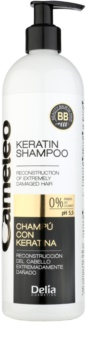 Delia Cosmetics Cameleo BB keratínový šampón pre poškodené vlasy