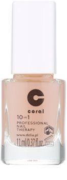 Delia Cosmetics Coral îngrijire profesională unghii, 10 în 1