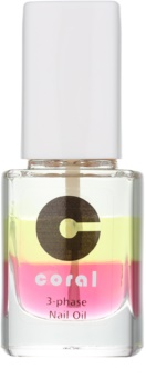 Delia Cosmetics Coral trojfázový olej na nechty a kožtičku