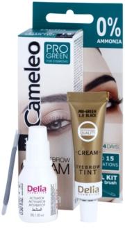 Delia Cosmetics Cameleo Pro Green teinture sourcils sans ammoniaque