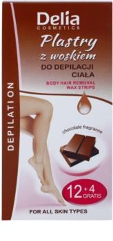 Delia Cosmetics Depilation Chocolate Fragrance bandas de cera depilatoria para el cuerpo