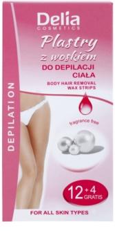 Delia Cosmetics Depilation Fragrance Free as bandas de cera para depilação para corpo